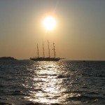 Star Clipper in der Abendsonne